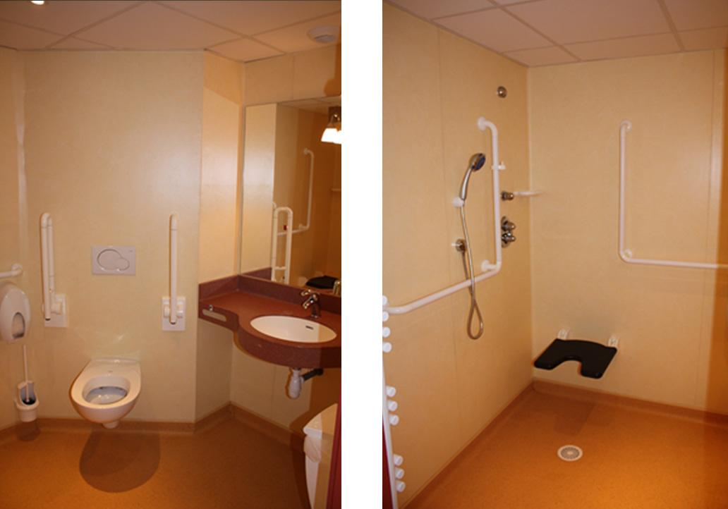 Salle d'eau hopital